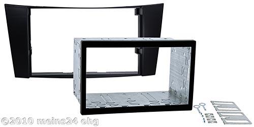 mercedes e klasse w211 radio blende rahmen 2 din set ebay. Black Bedroom Furniture Sets. Home Design Ideas