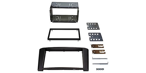 toyota avensis doppel 2 din radio blende einbau rahmen iso. Black Bedroom Furniture Sets. Home Design Ideas
