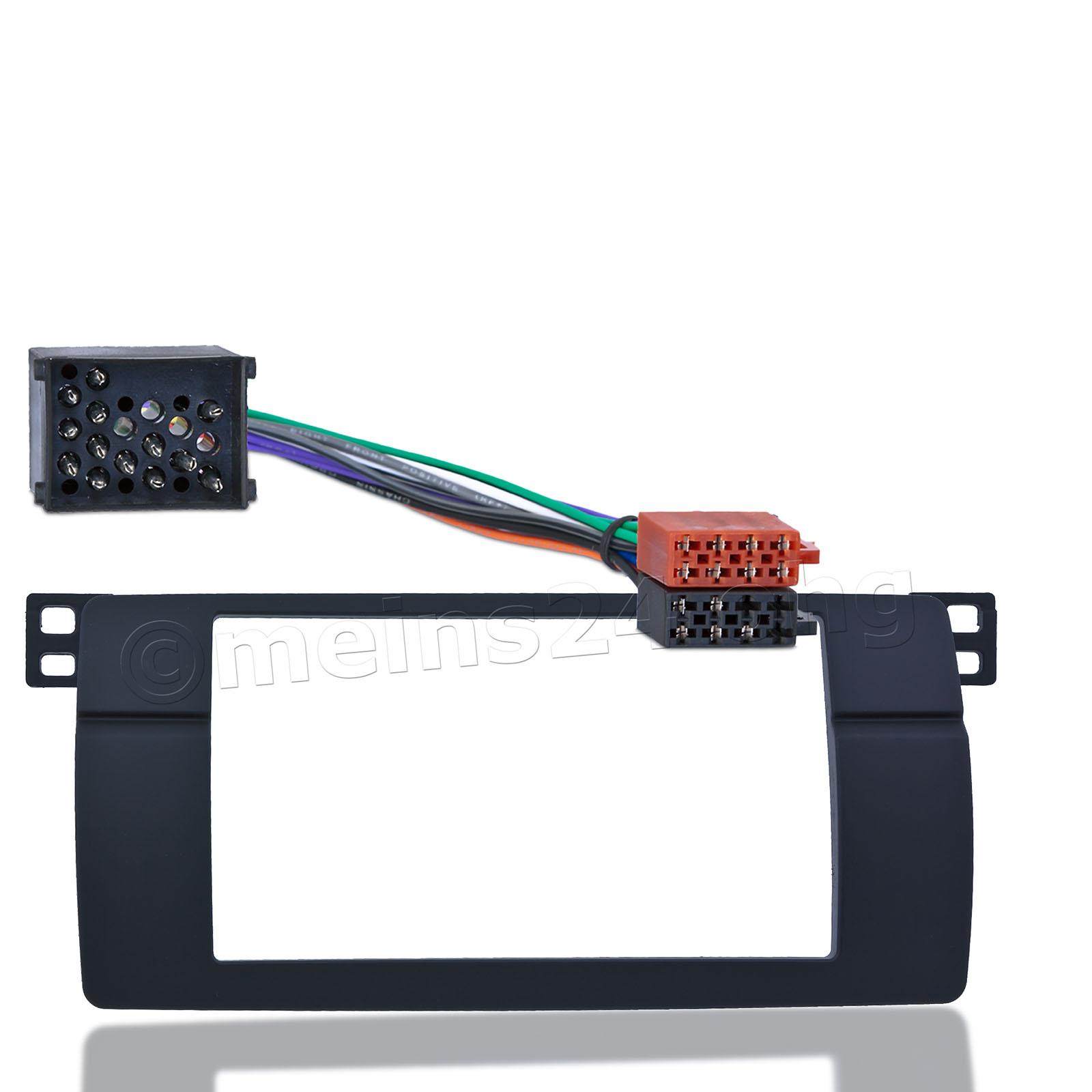 Einbauset mit 2DIN Radioblende passend für BMW 3er E46