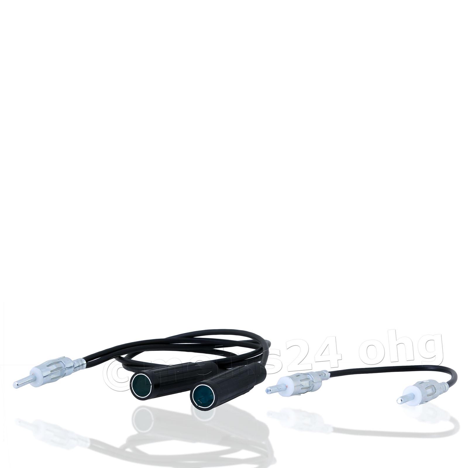 Antennenadapter DIN Stecker -> 2x DIN Buchse (2 Antennen oder TMC)