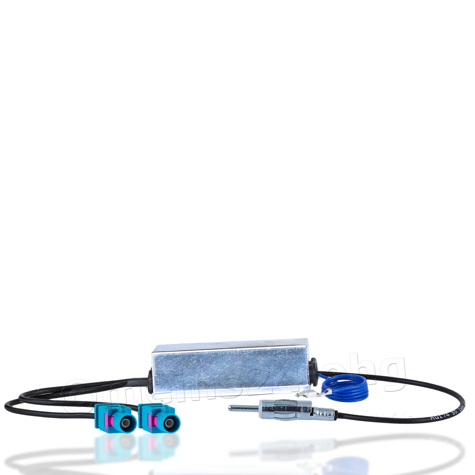 Antennenadapter mit Phantomeinspeisung Diversity 2 Fakra Z Stecker (m) auf DIN