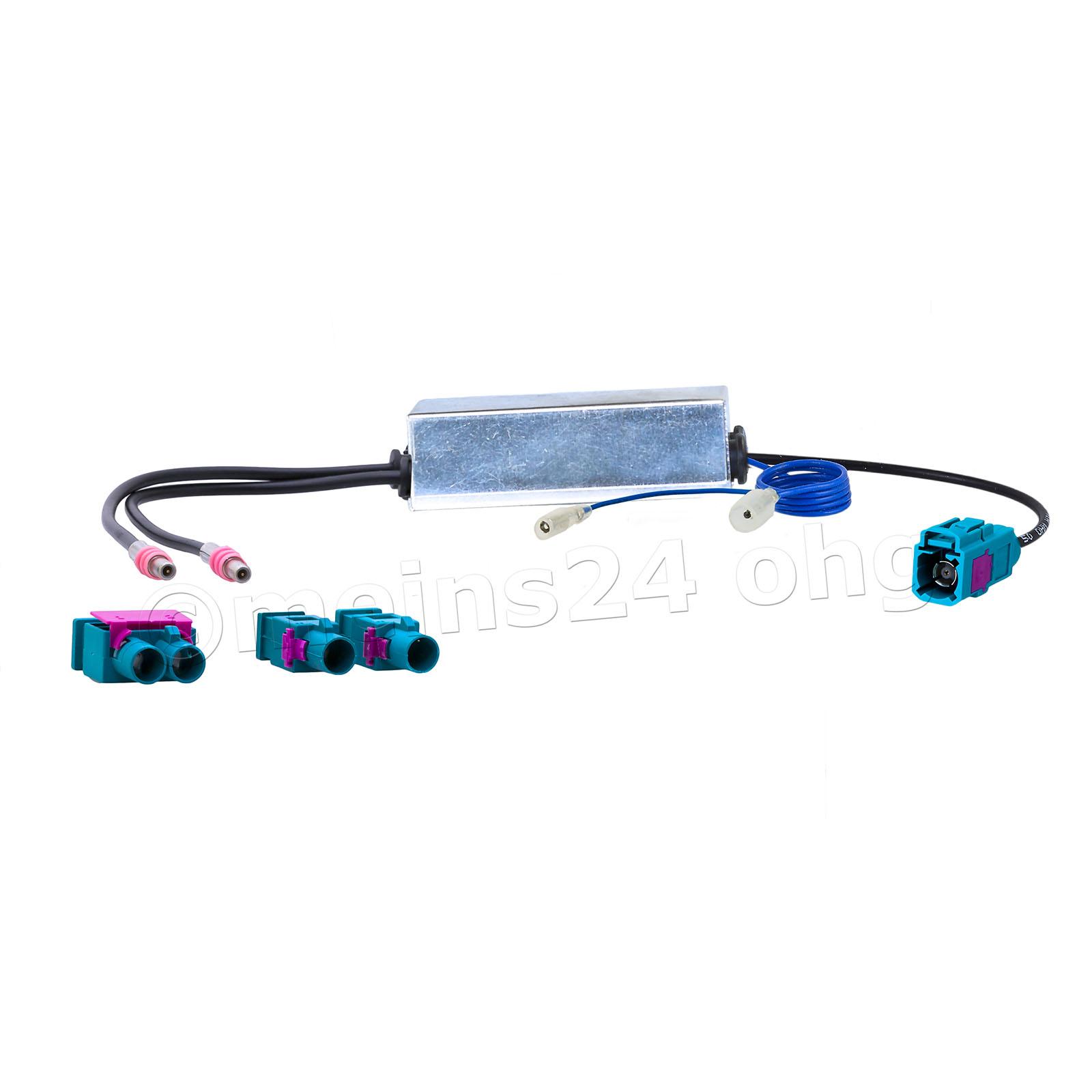 Antennenadapter mit Phantomeinsp. Fakra Z Buchse (f) auf 2x Fakra Z Stecker (m)