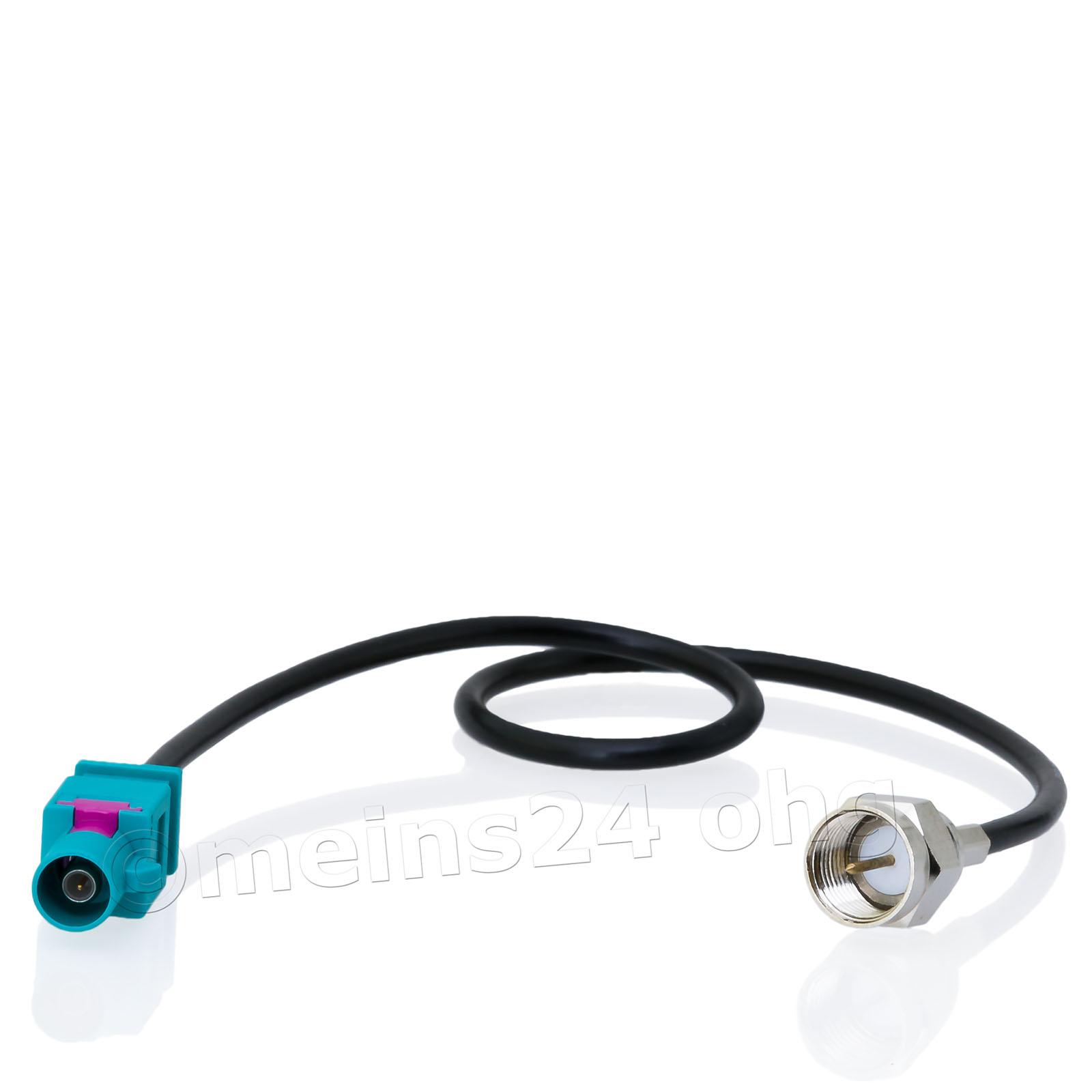 Antennenadapter Fakra Z Stecker (m) -> F Stecker (m)