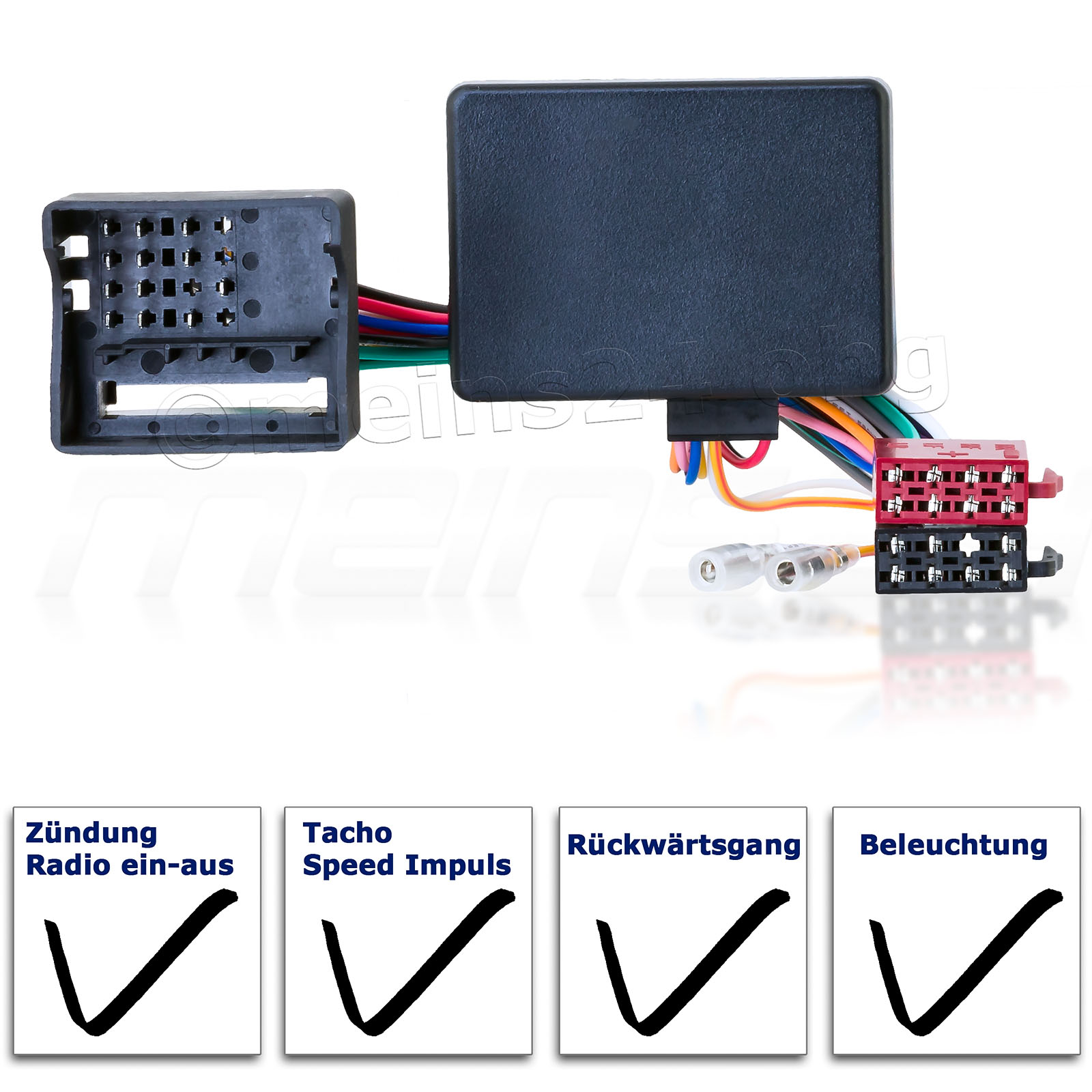 Radioadapter mit CAN-Bus Interface passend für VW SEAT SKODA AUDI