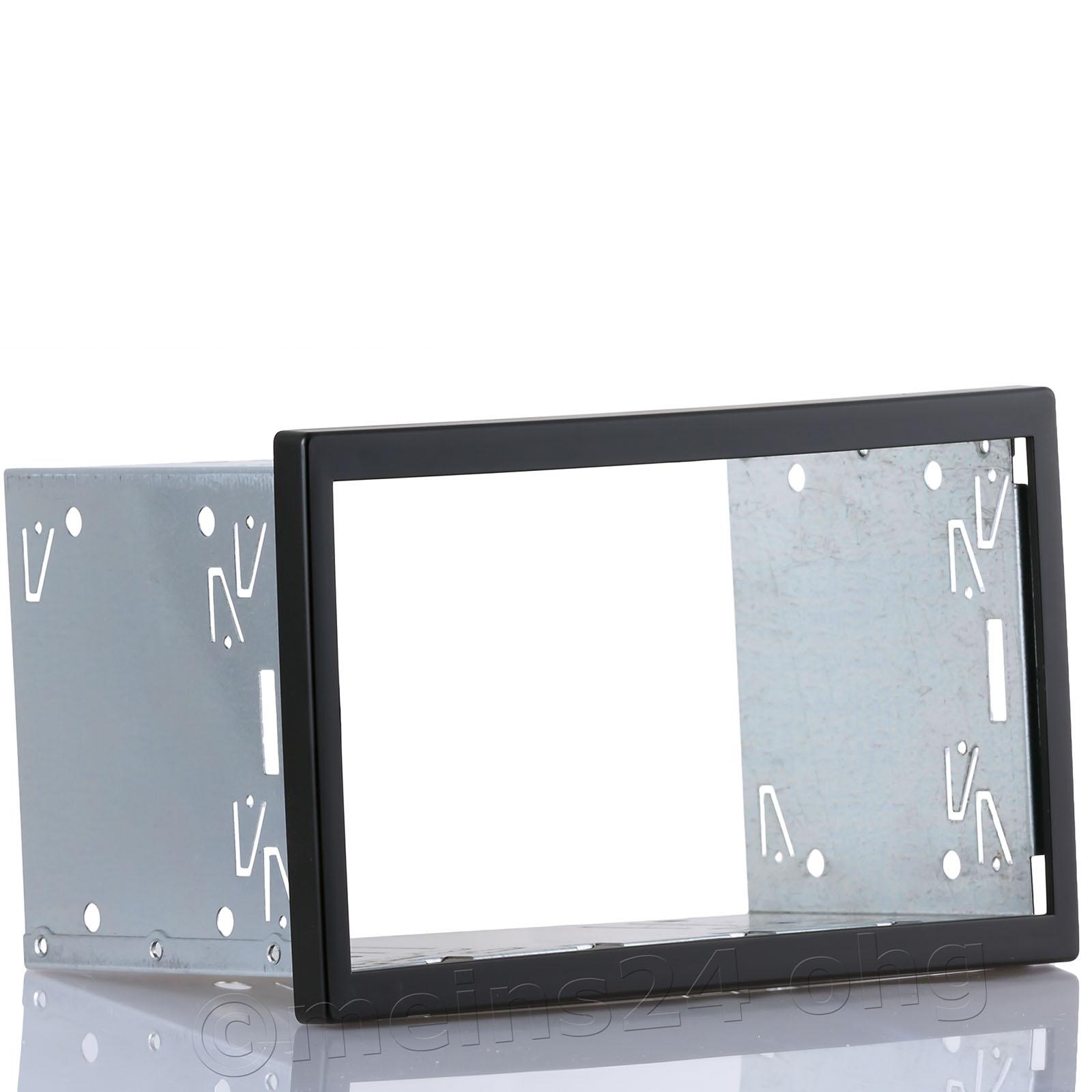 Doppel ISO Radioblende / Einbauschacht Universal (BxH:189x115mm)