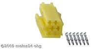 MINI-ISO gelb 6pol. Buchsengehäuse inkl. 6St. ISO PINs