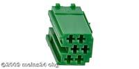 MINI-ISO grün 6pol. Buchsengehäuse