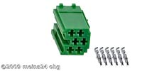 MINI-ISO grün 6pol. Buchsengehäuse inkl. 6St. ISO PINs