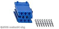 MINI-ISO blau 8pol. Buchsengehäuse inkl. 8St. ISO PINs