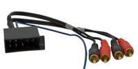 10pol. ISO Stecker auf 4 Cinch-Stecker