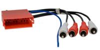 6pol. MINI-ISO Stecker auf 4 Cinch-Stecker