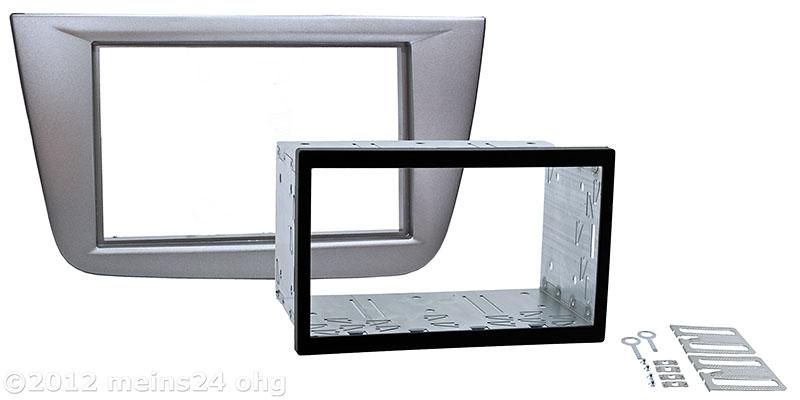 Einbauset Doppel 2 DIN passend für SEAT Altea Toledo