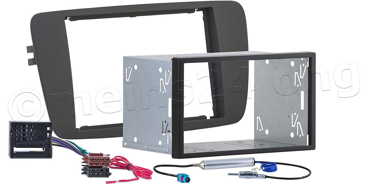 Doppel 2 DIN Einbauset passend für SEAT Ibiza (4G - Typ 6J/6P)