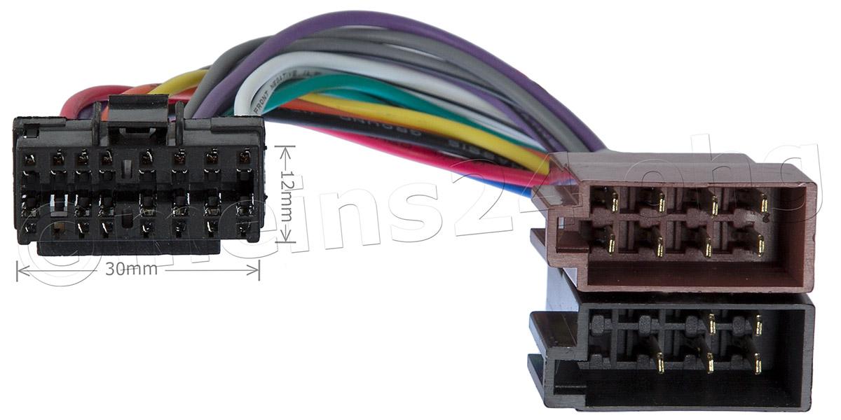 Anschlusskabel passend für SONY Autoradio 16pol. 30x12mm