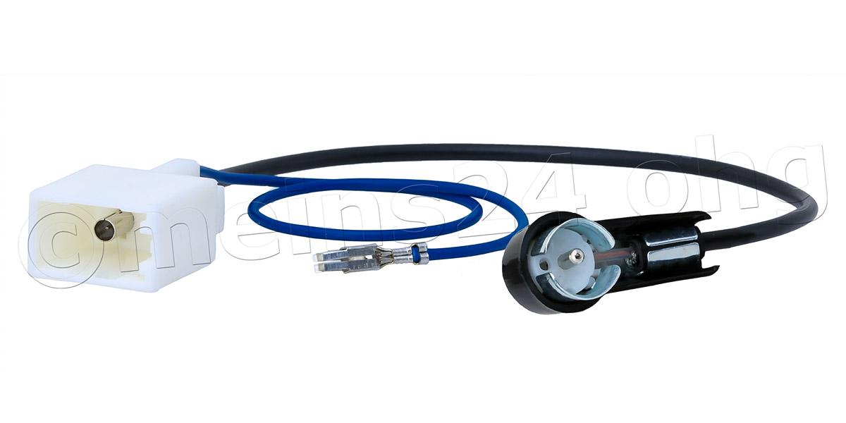 Antennenadapter passend für TOYOTA CITROEN PEUGEOT SUBARU auf ISO