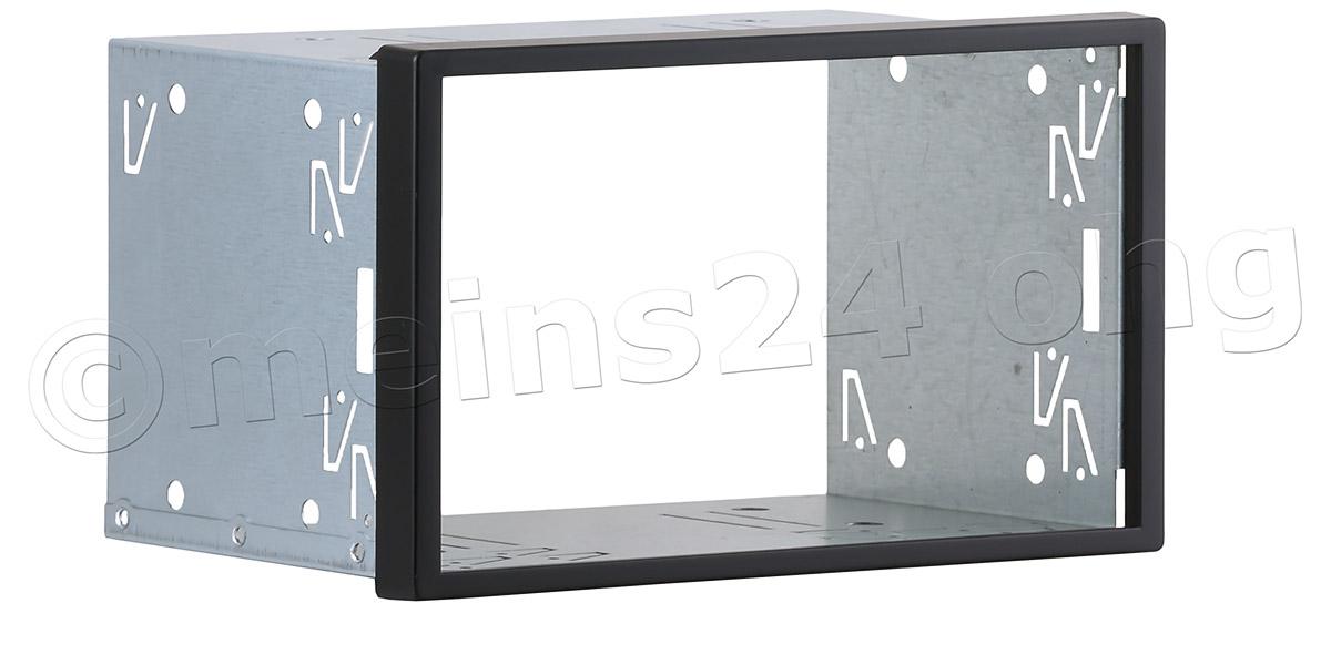 Doppel DIN Radioblende / Einbauschacht Universal (BxH:187x109mm)