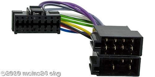 Anschlusskabel für JVC Autoradios Stecker Radioadapter ISO universell