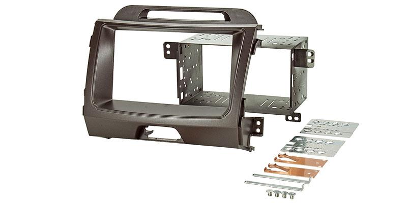 Doppel DIN Einbauset passend für KIA Sportage III - Typ SL