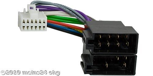 Anschlusskabel passend für PANASONIC Autoradio 12pol. 16x9mm