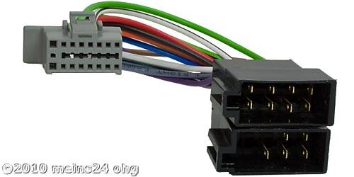 Anschlusskabel passend für PANASONIC Autoradio 16pol. 21x11mm