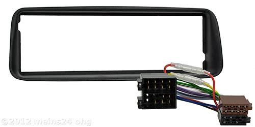 radio blende f r peugeot 206 radio blende rahmen adapter. Black Bedroom Furniture Sets. Home Design Ideas
