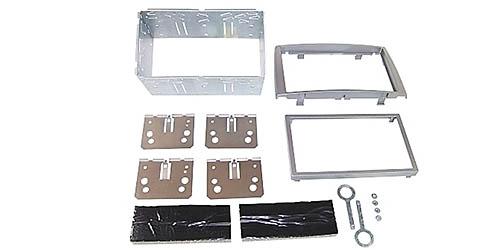 Einbauset Doppel DIN passend für PEUGEOT 308 - silber