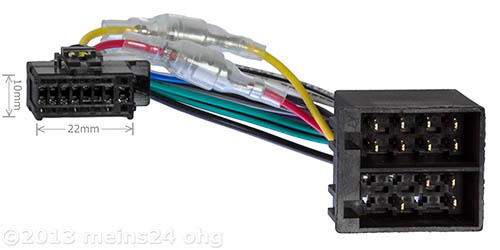 Anschlusskabel passend für PIONEER Autoradio 16pol. 22x10mm