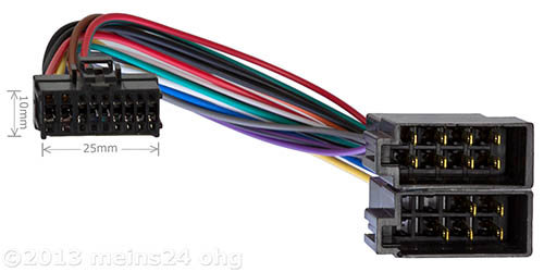 Anschlusskabel passend für PIONEER Autoradio 16pol. 25x10mm