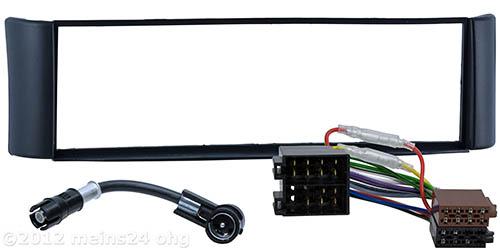 radioblende f r smart for two 450 fortwo einbau rahmen iso. Black Bedroom Furniture Sets. Home Design Ideas