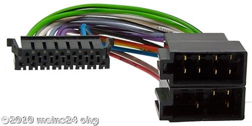 Anschlusskabel passend für SONY Autoradio 15pol. 36x9mm