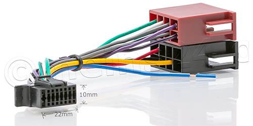 Anschlusskabel passend für SONY Autoradio 16pol. 22x10mm