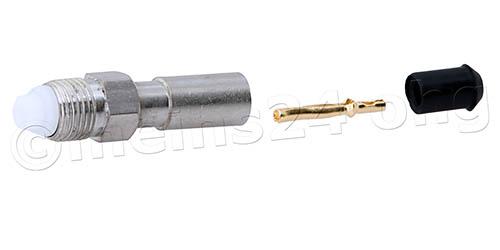 FME Buchse (f) lötbar - für RG58 Kabel