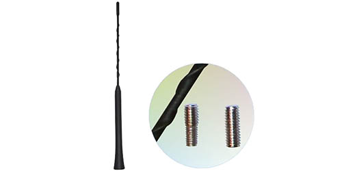 Ersatzantennenstab 28cm gewendelt mit Wechselgewinde M5 M6