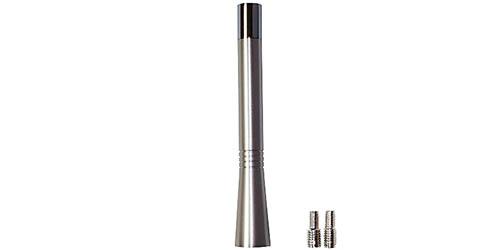 Ersatzantennenstab 10cm Aluminium silber Mini Typ 2 mit Wechselgewinde M5 M6