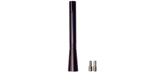 Ersatzantennenstab 10cm Aluminium schwarz Mini Typ 2 mit Wechselgewinde M5 M6