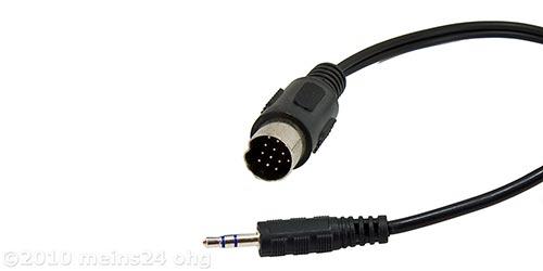 AUX-IN Adapter auf 3,5mm Klinke passend für KENWOOD