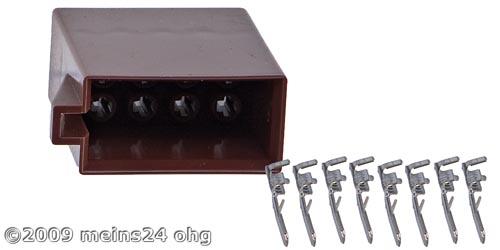 ISO Lautsprecher Steckergehäuse inkl. 8St. ISO PINs