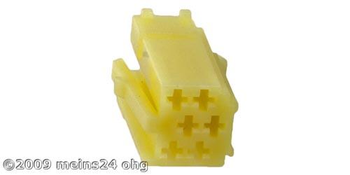 MINI-ISO gelb 6pol. Buchsengehäuse