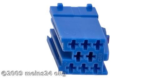 MINI-ISO blau 8pol. Buchsengehäuse