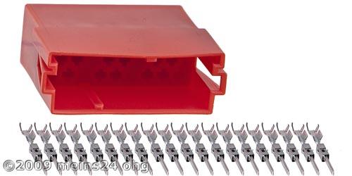 20pol. MINI-ISO Steckergehäuse inkl. 20St. ISO PINs