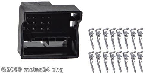 MOST Quadlook Steckergehäuse inkl. 16St. ISO PINs