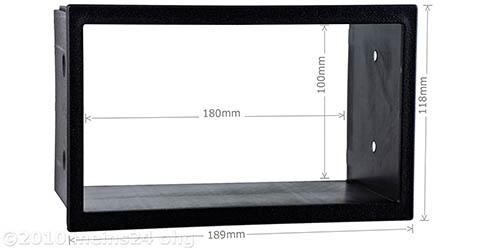 Doppel DIN Einbauschacht / Radioblende Universal für VW Golf 4 Bora
