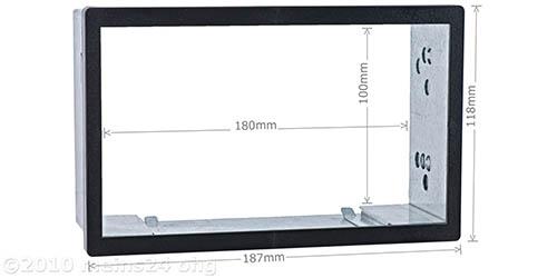 Doppel ISO Einbauschacht / Radioblende Universal (BxH:187x118mm)