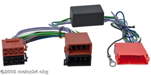 Aktivsystemadapter MINI-ISO passend für AUDI A3 A4 A6 A8 / ALFA 147