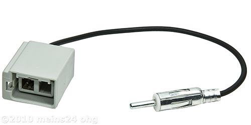 Antennenadapter GT5 grau 2PP (M) > DIN 150 OHM